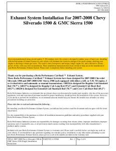 Exhaust System Installation For Chevy Silverado 1500 & GMC Sierra 1500