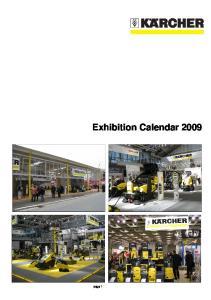 Exhibition Calendar 2009