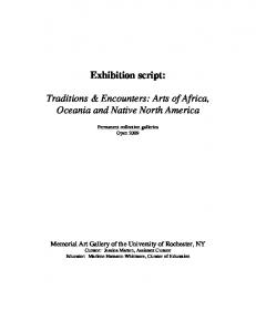 Exhibition script: Permanent collection galleries Open 2009