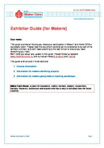 Exhibitor Guide (for Makers)