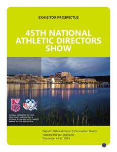 EXHIBITOR PROSPECTUS 45TH NATIONAL ATHLETIC DIRECTORS SHOW