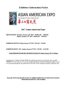 Exhibitors Information Packet