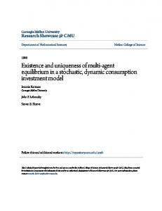 Existence and uniqueness of multi-agent equilibrium in a stochastic, dynamic consumption investment model