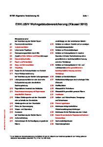 EXKLUSIV Wohngebäudeversicherung (Klausel 5010)