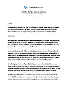 Exodus (Part 3) Days of Darkness