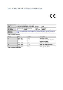 ExPACS DICOM Conformance statement