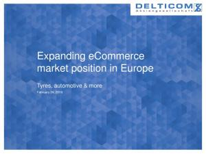 Expanding ecommerce market position in Europe