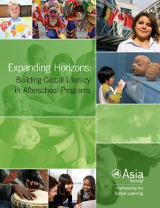 Expanding Horizons: Building Global Literacy in Afterschool Programs