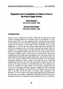 Expansion and Consolidation of Islam in Iran to the End of Qajar Period