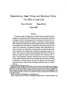 Expectations, Asset Prices, and Monetary Policy: The Role of Learning