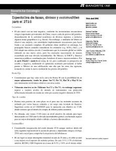Expectativa de tasas, divisas y commodities para el 2T16