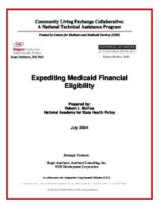 Expediting Medicaid Financial Eligibility