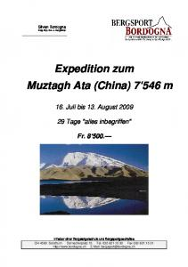 Expedition zum Muztagh Ata (China) m