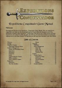 Expeditions: Conquistador Game Manual