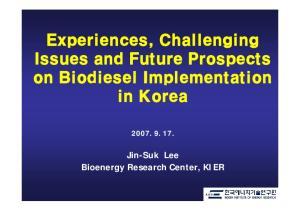 Experiences, Challenging. in Korea