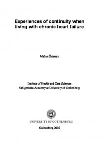 Experiences of continuity when living with chronic heart failure