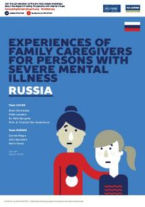 EXPERIENCES OF FAMILY CAREGIVERS FOR PERSONS WITH SEVERE MENTAL ILLNESS RUSSIA
