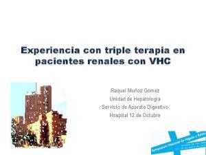 Experiencia con triple terapia en pacientes renales con VHC