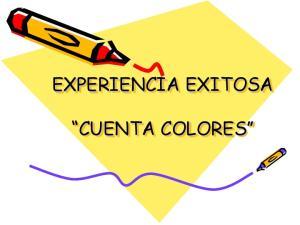 EXPERIENCIA EXITOSA CUENTA COLORES