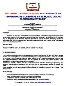 EXPERIENCIAS CULINARIAS EN EL MUNDO DE LAS FLORES COMESTIBLES