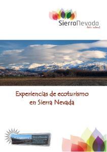 Experiencias de ecoturismo en Sierra Nevada