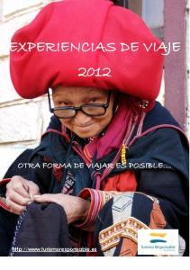 EXPERIENCIAS DE VIAJE 2012