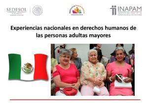 Experiencias nacionales en derechos humanos de las personas adultas mayores