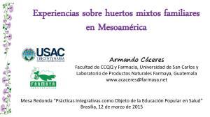 Experiencias sobre huertos mixtos familiares en Mesoamérica