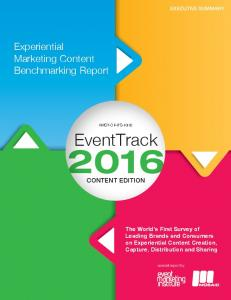 Experiential Marketing Content Benchmarking Report