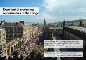 Experiential marketing opportunities at the Fringe