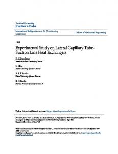 Experimental Study on Lateral Capillary Tube- Suction Line Heat Exchangers