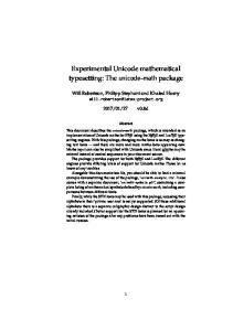 Experimental Unicode mathematical typesetting: The unicode-math package