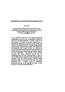 EXPERIMENTAL VALIDATION OF MICROARRAY DATA. Patrick Tan