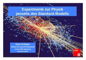 Experimente zur Physik jenseits des Standard-Modells
