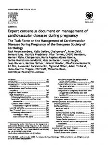 Expert consensus document on management of cardiovascular diseases during pregnancy