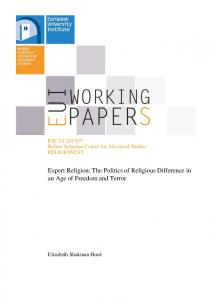 Expert Religion: The Politics of Religious Difference in an Age of Freedom and Terror