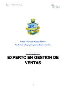 EXPERTO EN GESTION DE VENTAS