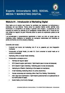 Experto Universitario SEO, SOCIAL MEDIA Y MARKETING DIGITAL