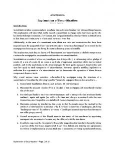 Explanation of Securitization