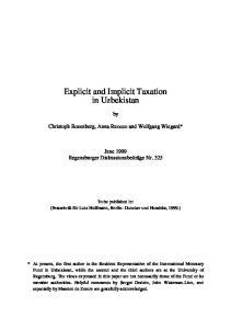Explicit and Implicit Taxation in Uzbekistan