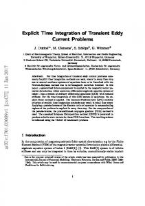Explicit Time Integration of Transient Eddy Current Problems