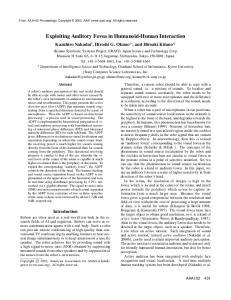 Exploiting Auditory Fovea in Humanoid-Human Interaction