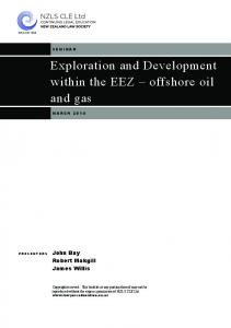 Exploration and Development within the EEZ offshore oil and gas