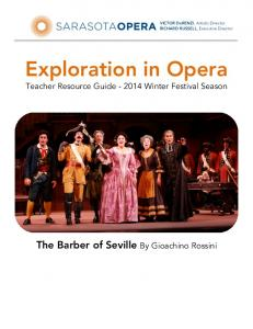 Exploration in Opera Teacher Resource Guide Winter Festival Season