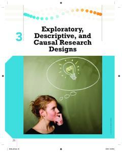 Exploratory, Descriptive, and Causal Research Designs