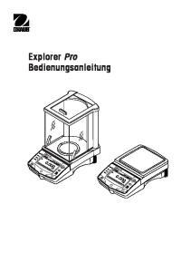 Explorer Pro Bedienungsanleitung