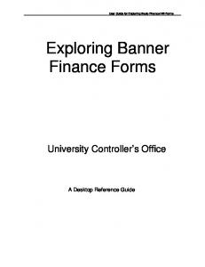 Exploring Banner Finance Forms