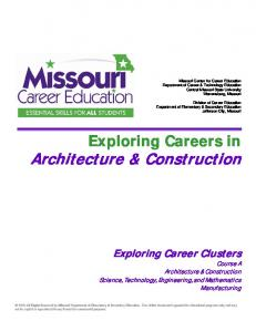 Exploring Careers in Architecture & Construction