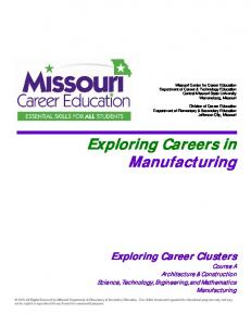 Exploring Careers in Manufacturing