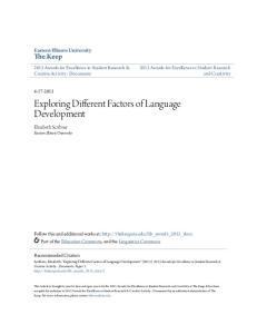 Exploring Different Factors of Language Development